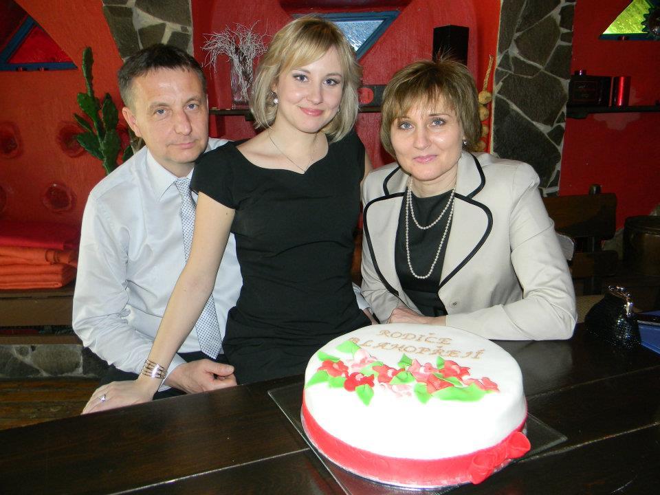 oslava promoce s rodiči